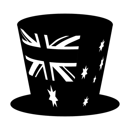 top hat australian flag symbol vector illustration Stockfoto - 127122818