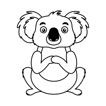 koala australian fauna on white background vector illustration