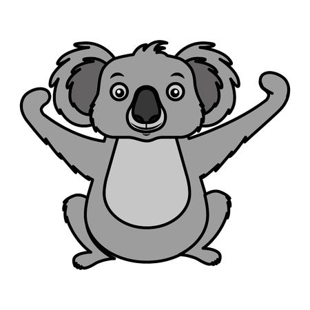 koala wildlife animal on white background vector illustration