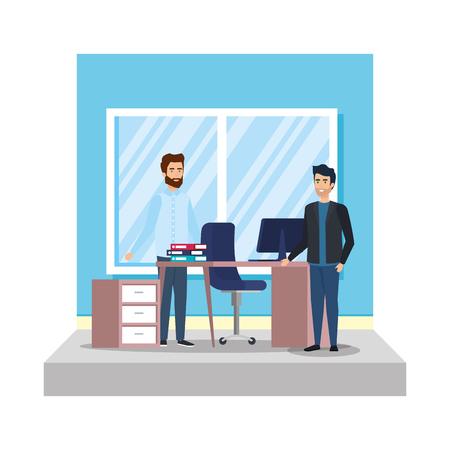 business men with curriculum vitae vector illustration design