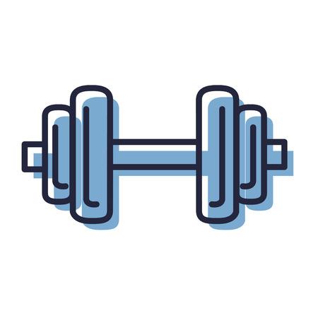 Levantamiento de pesas deporte fitness diseño ilustración vectorial