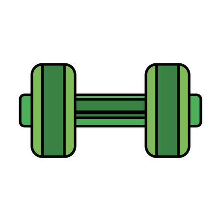 weight lifting dumbbell sport fitness vector illustration design Reklamní fotografie - 127026533