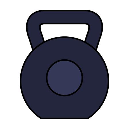 weight lifting dumbbell sport fitness vector illustration design