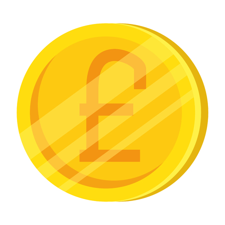 pound sterling coin icon vector illustration design 向量圖像