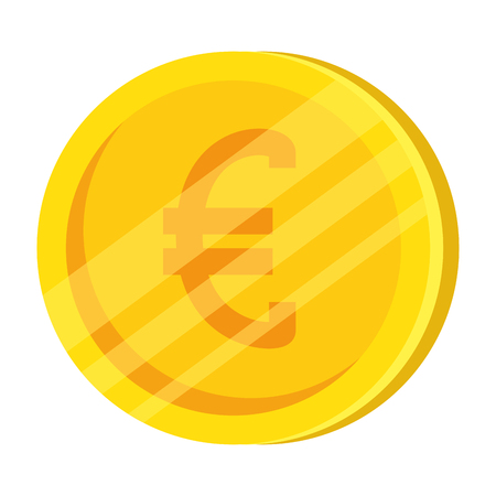 euro coin isolated icon vector illustration design