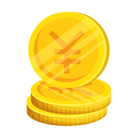 yen coins isolated icon vector illustration design 일러스트