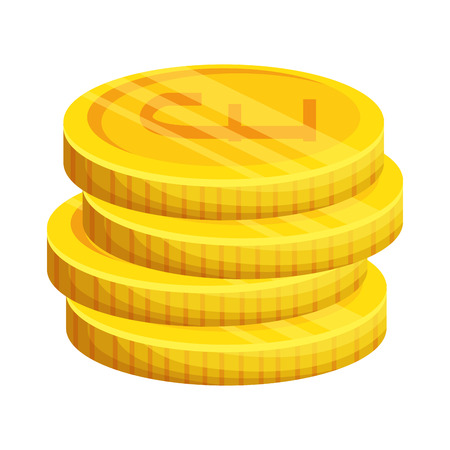pound sterlings coins icon vector illustration design 向量圖像