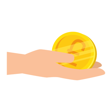 hand with pound sterling vector illustration design 版權商用圖片 - 127026610