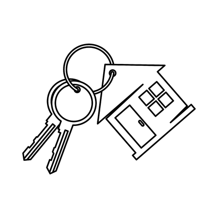 keys of house property vector illustration design
