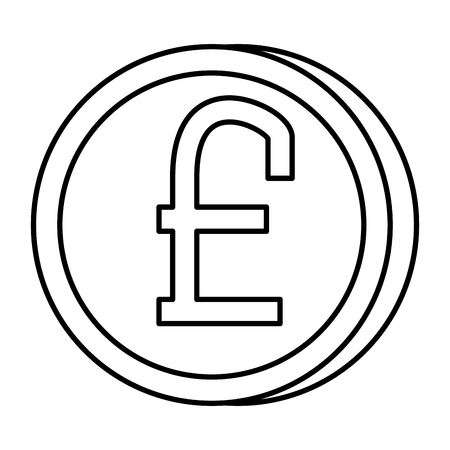 pound sterling coin icon vector illustration design  イラスト・ベクター素材
