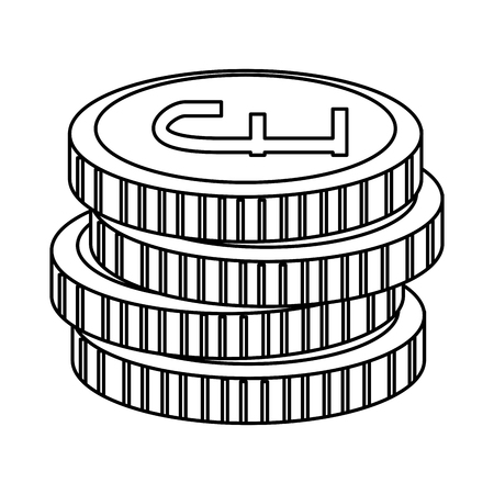 pound sterlings coins icon vector illustration design Illusztráció