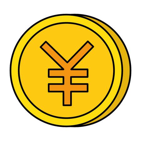yen coin isolated icon vector illustration design