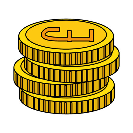 pound sterlings coins icon vector illustration design Stok Fotoğraf - 127026662