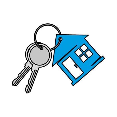 keys of house property vector illustration design Foto de archivo - 127026669