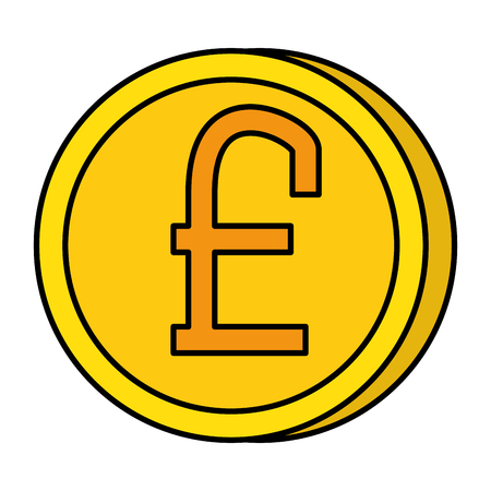 pound sterling coin icon vector illustration design Illustration