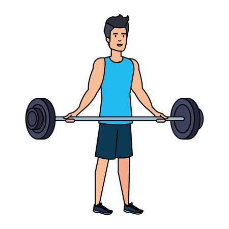 strong man lifting weight vector illustration design Archivio Fotografico - 113429991