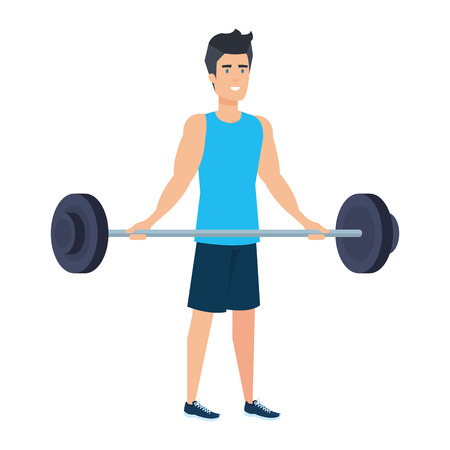 strong man lifting weight vector illustration design Archivio Fotografico - 127026752