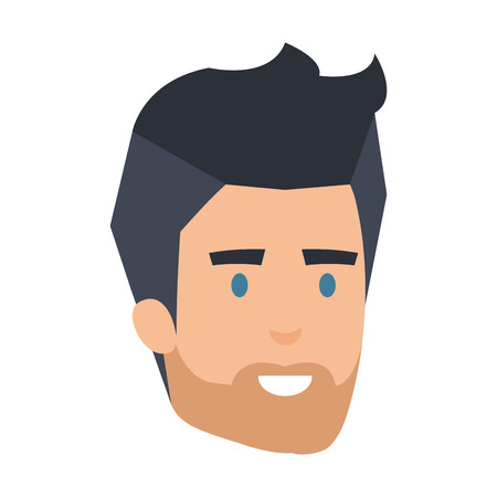 young man with beard head avatar character vector illustration design 版權商用圖片 - 127026781