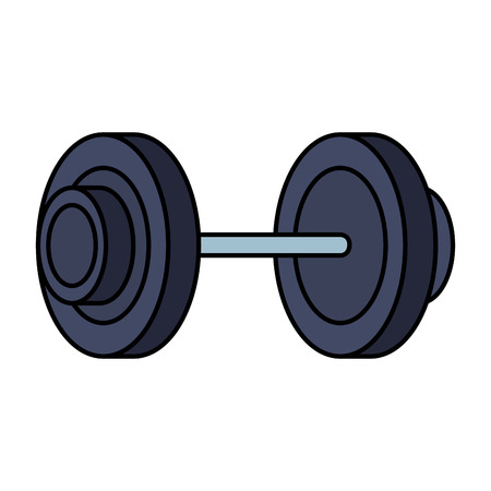 weight lifting dumbbell sport fitness vector illustration design