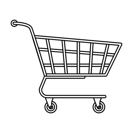 supermarket shopping cart icon vector illustration design 向量圖像