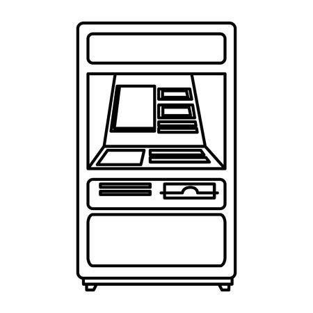 atm machine isolated icon vector illustration design