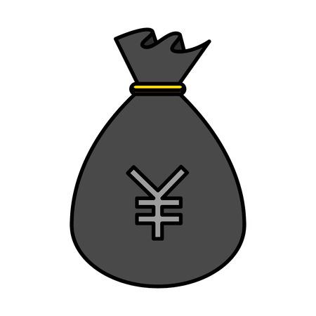 sack of yen coins vector illustration design Illustration