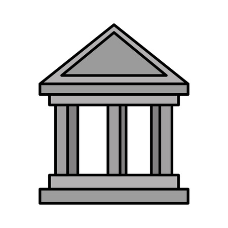 bank building isolated icon vector illustration design Фото со стока - 127026943