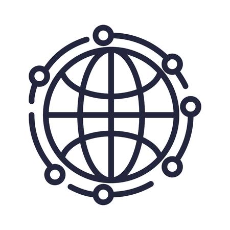 sphere planet browser icon vector illustration design Banque d'images - 113430013