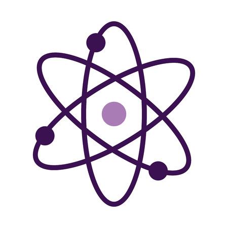 atom molecule isolated icon vector illustration design