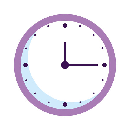 time clock isolated icon vector illustration design Banque d'images - 127027048