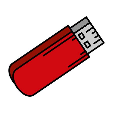 usb memory isolated icon vector illustration design Foto de archivo - 113430059