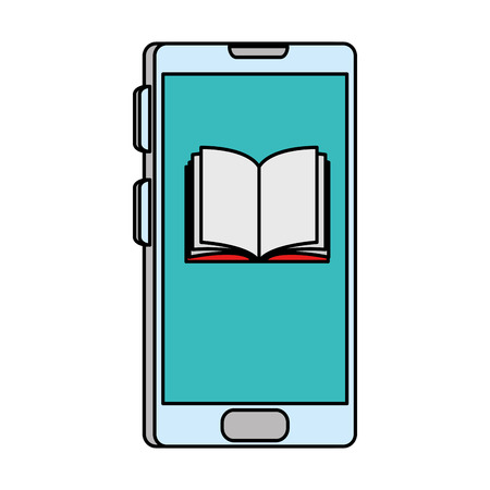 smartphone with electronic book vector illustration design 向量圖像
