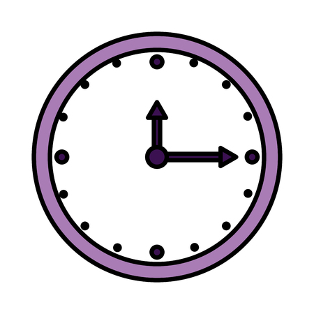 time clock isolated icon vector illustration design Banque d'images - 113430076
