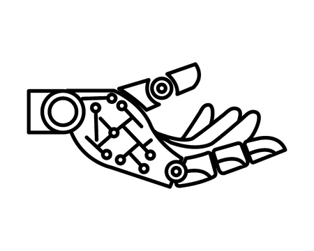 robotic hand isolated icon vector illustration design