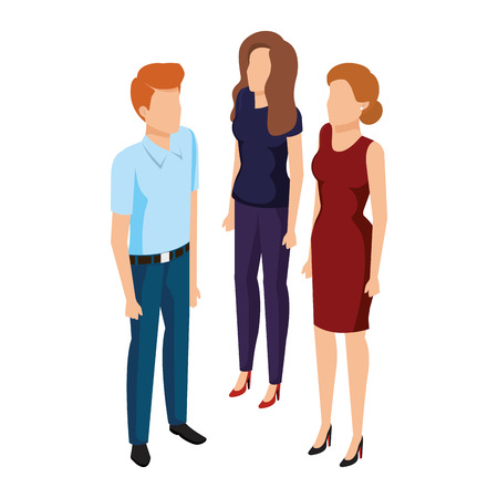 group of business people avatars characters vector illustration design