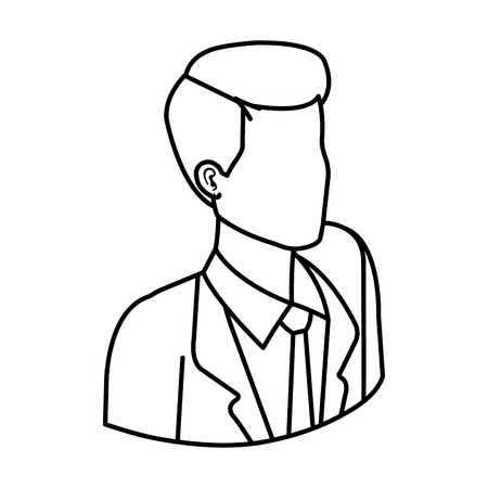 elegant businessman avatar character vector illustration design