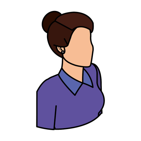 elegant businesswoman avatar character vector illustration design 向量圖像