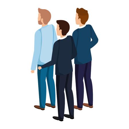 group of men avatars characters vector illustration design Stock fotó - 127009306