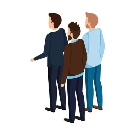 group of men avatars characters vector illustration design Stock Illustratie