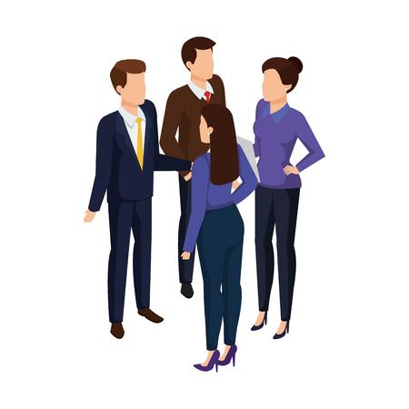 Grupo de gente de negocios personajes avatares diseño ilustración vectorial