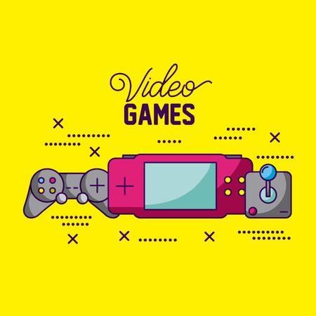 video game control psp symbols background vector illustration