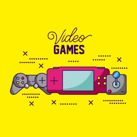 video game control psp symbols background vector illustration