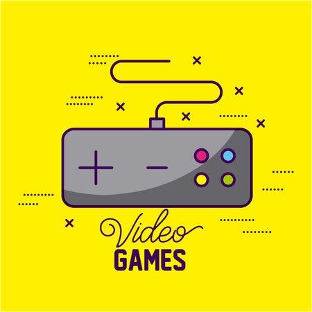 video game command control symbols background vector illustration Illustration
