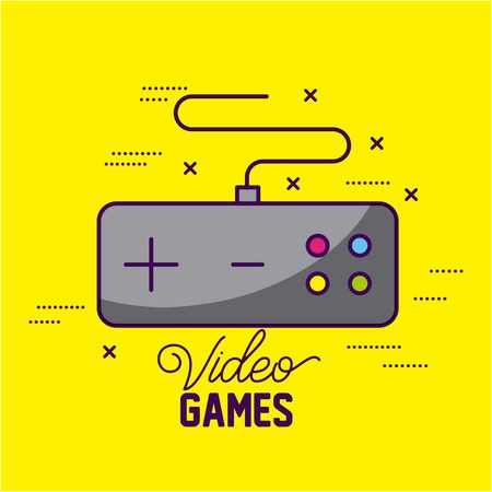 video game command control symbols background vector illustration Ilustração