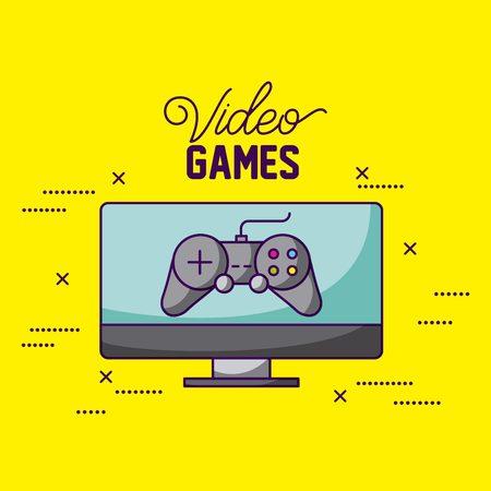 video game computer screen control vector illustration Stock Vector - 113813158