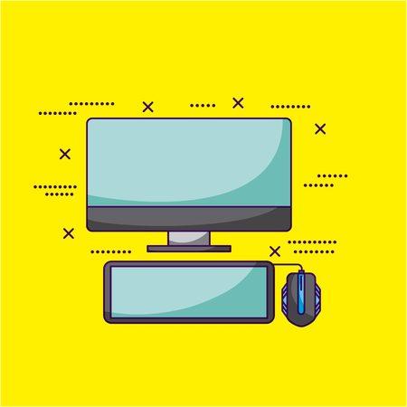 video game computer symbols background vector illustration Illustration