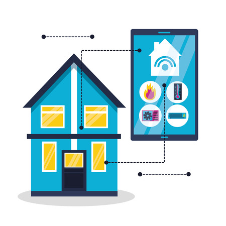 smart home system technology connection vector illustration 向量圖像
