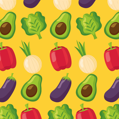 vegetables fresh healthy food background vector illustration