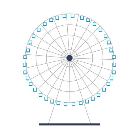 ferris wheel amusement on white background vector illustration Illustration