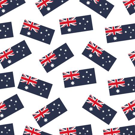australia flag nation on white background vector illustration
